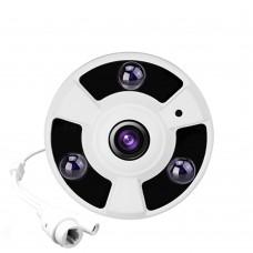 FishEye 5MP 1.7mm Lens 720P IMX222 Optional ONVIF 360 Degree Panoramic IP Camera Night Vision P2P