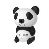 HD 1280x720P Day Night Wi-Fi Baby Moninitor Cute Panda Cloud IP Wireless Security Night Vision Video Monitoring Camera