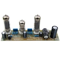 Unassembled DJ002 6N1+6P14 3.5Wx2 Stereo Amplifier Board Kit with Electron Tube