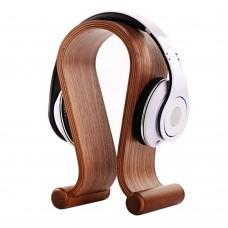 Walnut Wood U Design Headphone Holder Hanger Classic Wooden Gaming Headset Display Stand Rack Bracket for Earphone