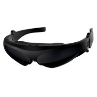 3D Virtual Reality Wide Screen Digital Video Glasses Eyewear Support Connect IOS&Android FPV-Black