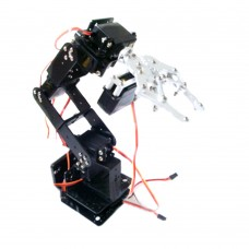 6 DOF Robot Arm+Mechanical Claw+6PCS High Torque Servos + Large Metal Base for DIY
