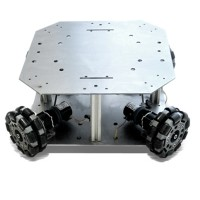 Anycbot Robot Development Platform Mobile Chassis Stainless Steel Plate Two Layers Smart Car for DIY
