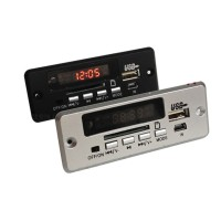 CT02CA LED Main Board MP3 Decoder 12V USB Player FM Radio AUX for Audio DIY-Black