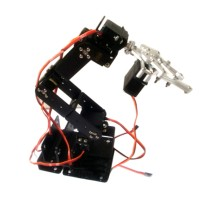 6 DOF Robot Arm+Mechanical Claw+Large Metal Base+U-Shaped Bracket for DIY