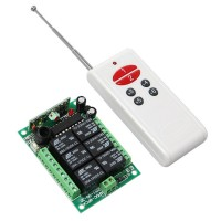 12V DC 6 Channel RF Wireless Relay Remote Control Home Control Switch System Light Switch