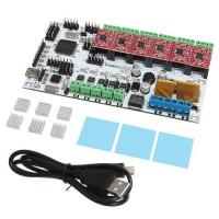 3D Printer Start Kits Mother Board Rumba Board with A4988 Stepper Driver Heatsink