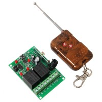 Geeetech 12V 6mA 2 Channel Relay Remote Control Module 2 CH RF Receiver +Transmitter