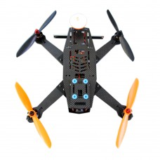 L250-1 Carbon Fiber 4-Axis Quadcopter Frame Kit w/Remote Controller Camera Monitor for FPV RTF Version