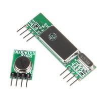 Superheterodyne Receiver Module + 433RF Wireless 3400 Transmitter Board for DIY