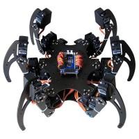 Assembled 18DOF Aluminium Hexapod Spider Six 3DOF Legs Robot Frame with Servos & Servo Horn & Controller