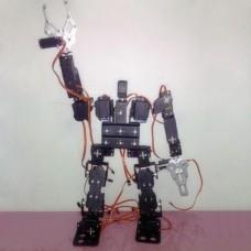 Assembled 19DOF Biped Robot Educational Robot Kit Bracket Robotics with Clamp & LD-1501 Servos & Controller