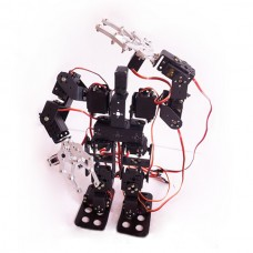 Assembled 15DOF Biped Robotic Educational Robot Mount Kit  with Clamp Claw & LD-1501 Servos & Controller