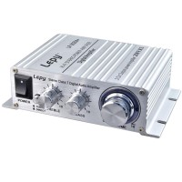 Lepy LP-2024 HIFI 2 Channel 20W Digital Stereo Audio Power Amplifier-Black