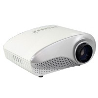 Mini LED Projector Home Multimedia Cinema LED 1080P Projector HD HDMI AV VGA SD USB TV RD802 White