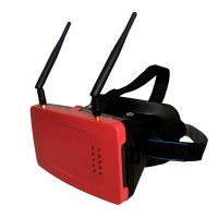 TX1 FPV-3D Receiving Glasses Box 5inch HD Monitor 32CH Receiver Video Glasses-Red