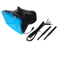 TX1 FPV-3D Receiving Glasses Box 5inch HD Monitor 32CH Receiver Video Glasses-Blue