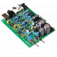 WM8740+DIR9001 PCM2704USB DAC Decoder Board USB Coaxial Input RCA Audio Output AC 9-12V