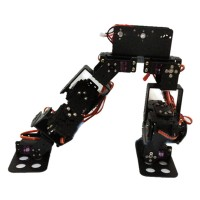 Unassembled 10 DOF Biped Robot Bipedal Humanoid Robot Kit with Servo Horn Bracket for Racing