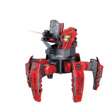 Remote Control Intelligent Spider Battle Robot Electric Tank Robotic Children Toy-Red