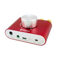Bluetooth 4.0 Audio Receiver Wireless Audio Receiving Lossless Adapter Board Module for HIFI Upgrading-Red