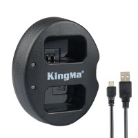 KingMa Dual Channel NP-FW50 Battery Charger for Sony A5000 A5100 A6000 A7R NEX6 5T 5R 5N Camera
