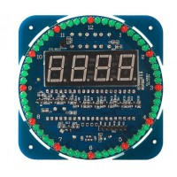DIY DS1302 Rotating LED Electronic Digital Clock Kit 51 SCM Learning Board Module