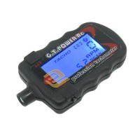 G.T. Power Model Profession RC Motor Digital Optical Tachometer Supports 2 to 9 Bladed Paddle Propeller