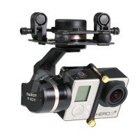 Tarot GOPRO 3D III 3-Axis Metal Gimbal PTZ Camera Mount for Canon GOPRO Hero 3 3+ 4 TL3T01 Upgraded Version