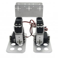 Assembled 4 DOF Biped Robot Educational Robotic Kit Servo Bracket with D-1501MG Servo-Silver