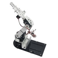Assembled 4DOF Mechanical Arm Metal Structure Holder Kit with LD-1501MG Servo for Robot Teaching Platform