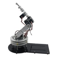 Assembled 5 DOF Mechanical Arm 3D Arm Full Metal Structure Rotating Bracket with LD-1501MG Servo for Robot