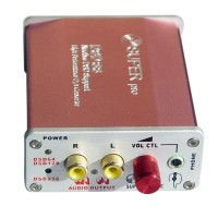 DSD88 Asynchronous Decoder DSD256 PCM Decoding 192KHZ SA9227 CS4398 HIFI USB External Sound Card-Pink