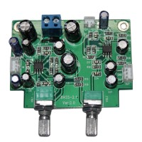 Mini Single Power 2.1 Preamp Board Bass Headphone Pre-Amplifier Module for Audio DIY