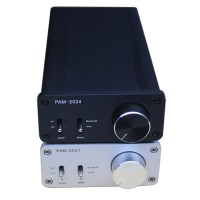 TA2024 Digital Power Amplifier 15W+15W Dual Channel Bluetooth HIFI Amp w/Power Supply -Silver