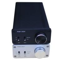 TA2024 Digital Power Amplifier 15W+15W Dual Channel Bluetooth HIFI Amp w/Power Supply -Silver