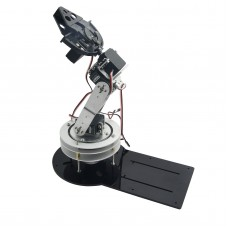 Assembled 5DOF Robot Mechanical Arm Rotating Base with LD-1501MG Servo for Education Teaching
