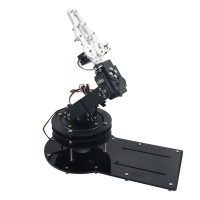 Assembled 4DOF Mechanical Arm Structure Holder with LD-1501MG Servo Rotating Base for Robot