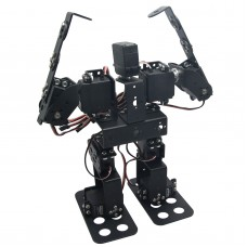 Assembled 9DOF Humanoid Biped Robotic Educational Robot with Bracket LD-1501MG Servo for Racing