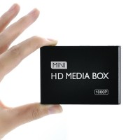 Mini HDMI Media Player 1080P Full HD TV Video Multimedia Player Box Support MKV RM-SD USB SDHC MMC HDD-HDMI