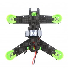 KingKong 210GT Kit 210mm Carbon Fiber 4-Axis Racing Quadcopter with PDB Board & Propeller Motor Protective Mount-Green