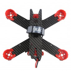 KingKong 210GT Kit 210mm Carbon Fiber 4-Axis Racing Quadcopter with PDB Board & Propeller Motor Protective Mount-Red
