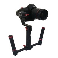 SMG EXT DLSR Two-Handed Hnadheld Gyro 3-Axis Gimbal Electronic PTZ Stabilizer for 6D A7S 5D DV FPV