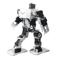 White 17DOF Robo-Soul H3.0 Biped Robtic Two-Legged Human Robot Aluminum Frame Kit w/17pcs Servo