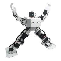 White 17DOF Robo-Soul H3.0 Biped Robotics Humanoid Robot Aluminum Frame Full Kit w/17pcs Servo + Controller