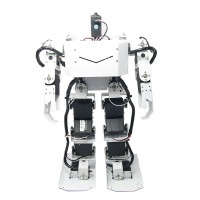 White 17DOF Robo-Soul H3.0 Biped Robotics Two-Leg Human Robot Aluminum Frame Kit Only No Servos