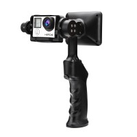 WenPod GP1+ 2-Axis 32 Bit Handheld Steady Camera Gimbal PTZ Gyroscope Stabilizer with 3.5'' LCD Screen for Gopro Hero 3 4