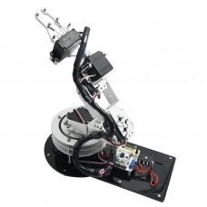 Assembled Aluminium 6DOF Robotic Robot Arm Clamp Claw & LD-1501 Servos & 32CH Controller for Arduino-Silver