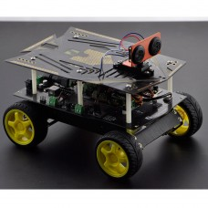 Unassembled DFRbot 4WD Mobile Robotic Kit Smart Car Ultrasonic Scanning Obstacle Avoidance Robot