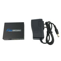 HDCP HDMI Splitter Full HD 1080p Video HDMI Switch Switcher 1X2 Split 1 in 2 Out Amplifier Dual Display for HDTV DVD PS3 Xbox